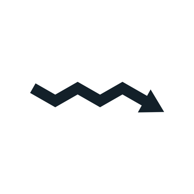 折线指数箭头
