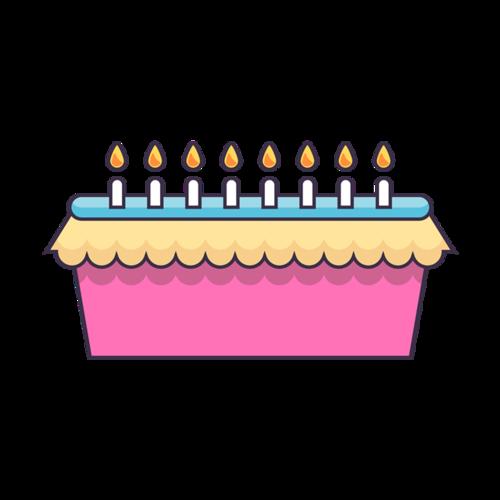 卡通生日蛋糕插画