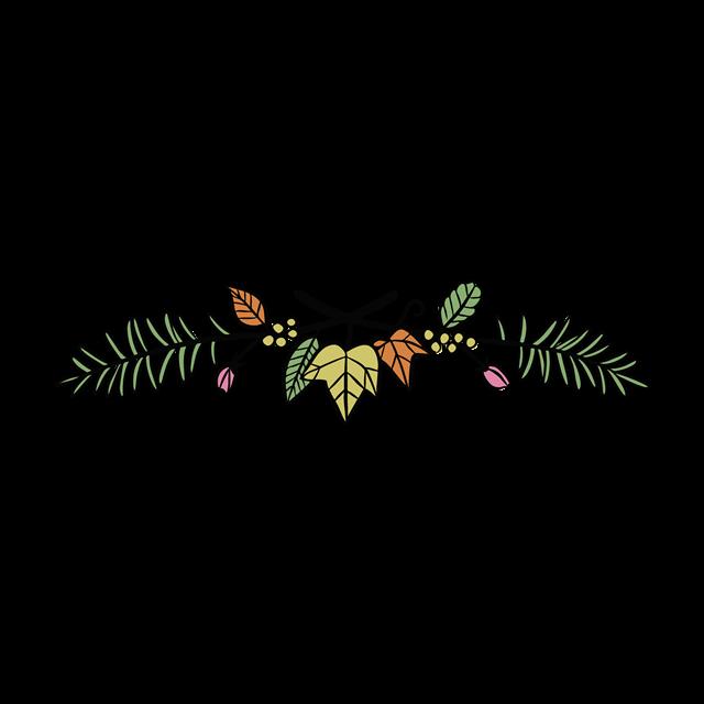树叶树枝边框