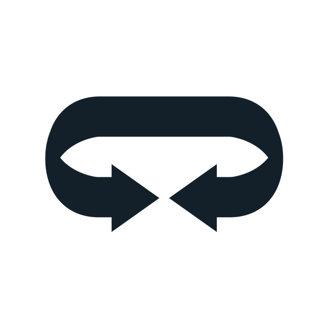 黑色循环图标