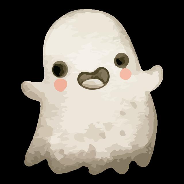 可爱幽灵插画