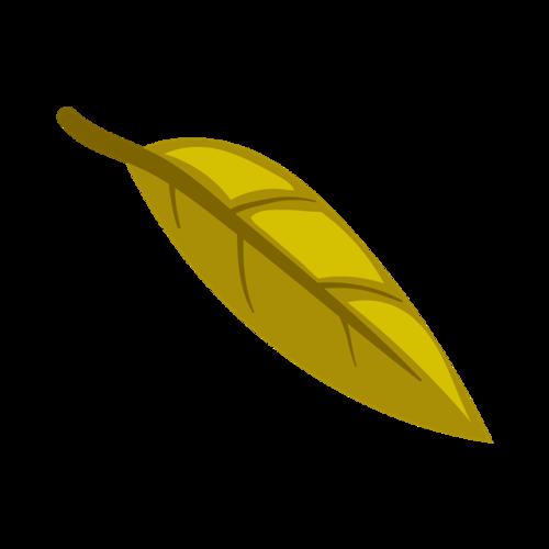 卡通绿色叶子