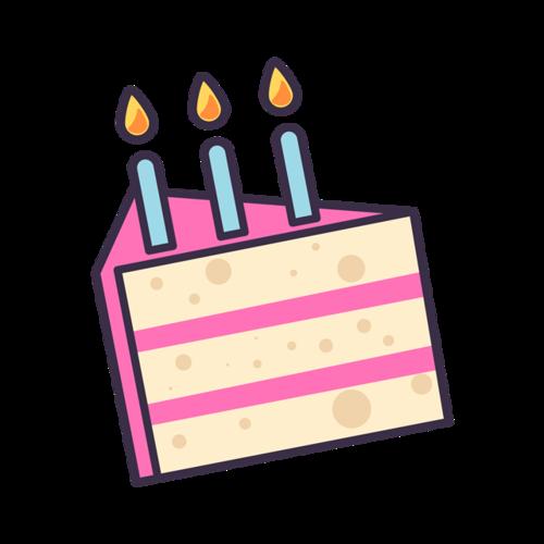 蛋糕蜡烛插画
