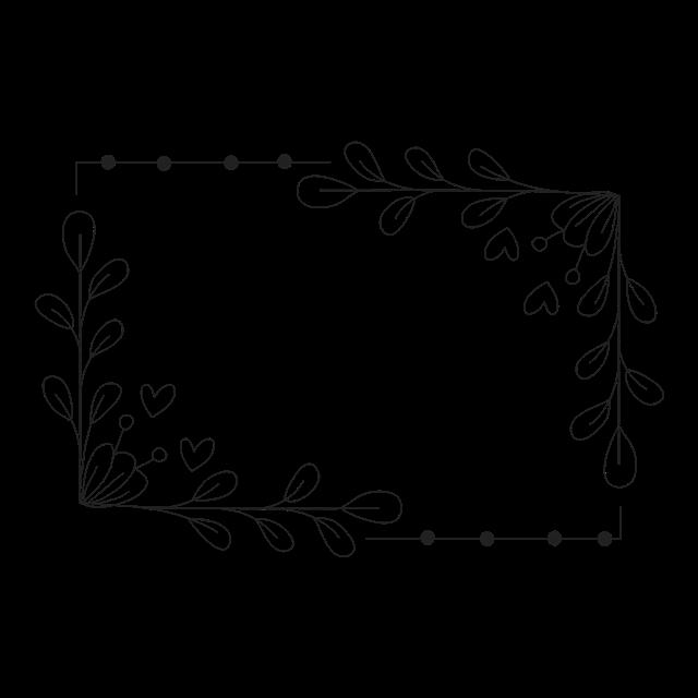 方形花环边框