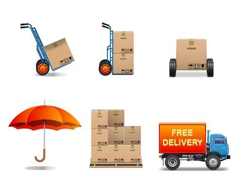 货物运输流程矢量图