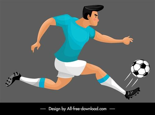 足球运动员矢量背景