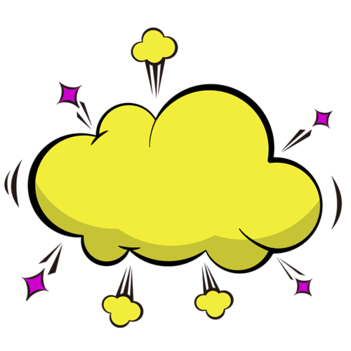黄色爆炸云边框