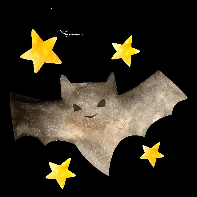 万圣节蝙蝠手绘