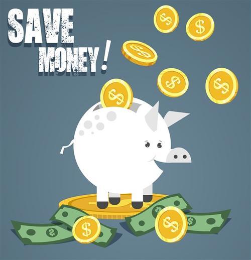 小猪存钱罐插画
