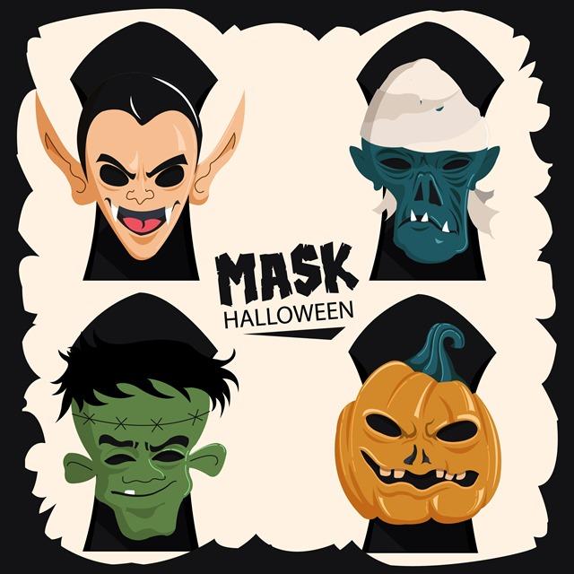 万圣节怪物面具图片