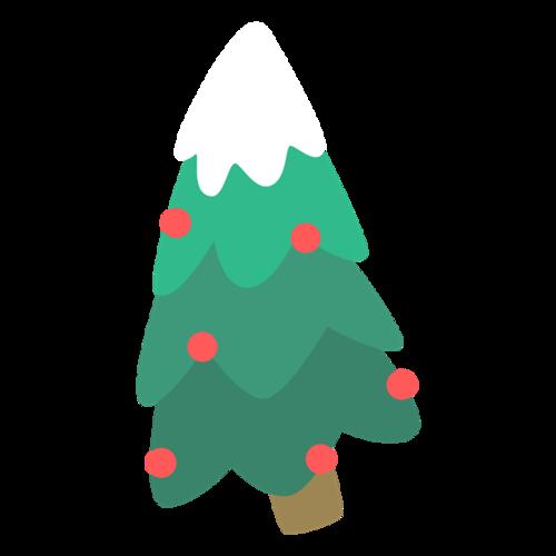 手绘圣诞树矢量图