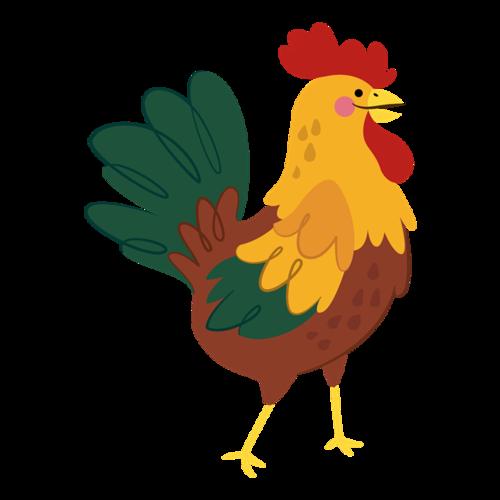 卡通公鸡图案