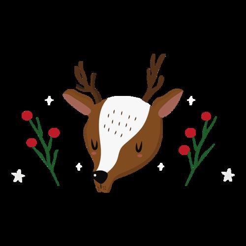 圣诞麋鹿插画