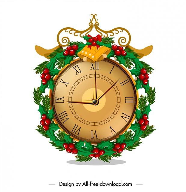 圣诞节时钟