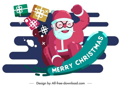 圣诞老人背景图