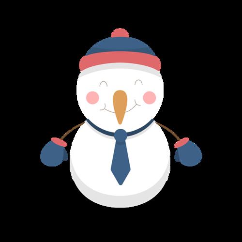 冬天卡通雪人