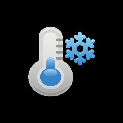 温度计降温插画