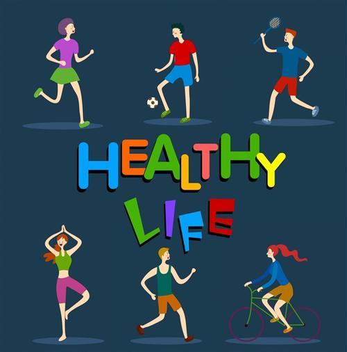 健康生活方式插画
