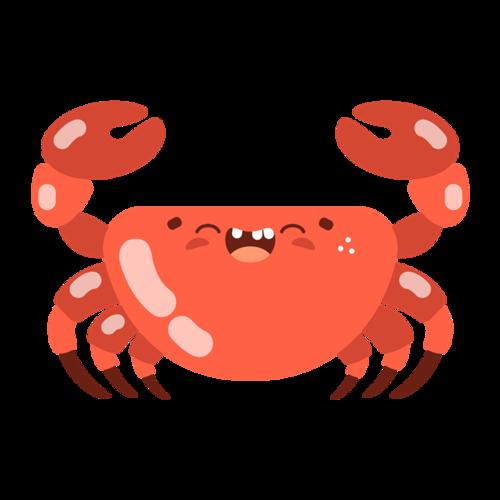 可爱螃蟹图片