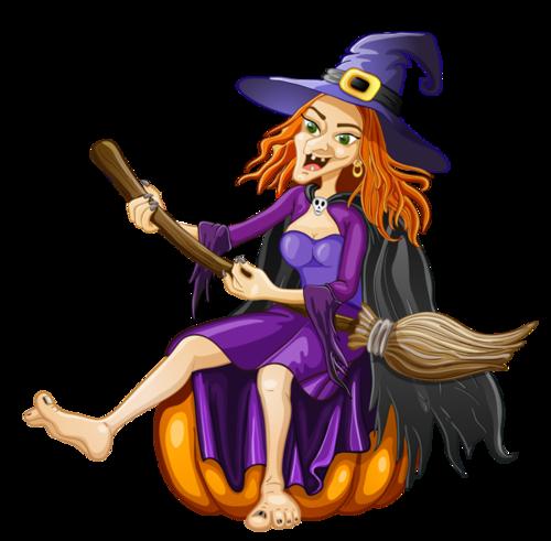 万圣节女巫插画