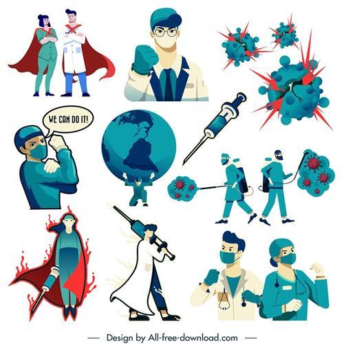 2020抗疫漫画图片