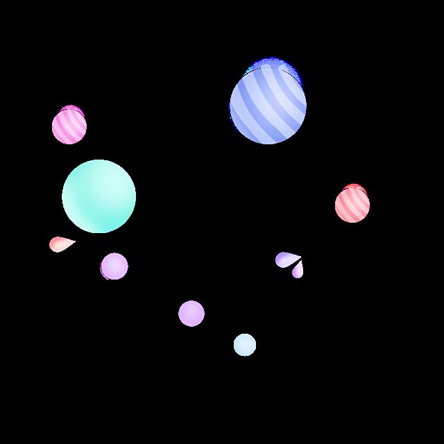 电商彩球装饰图片