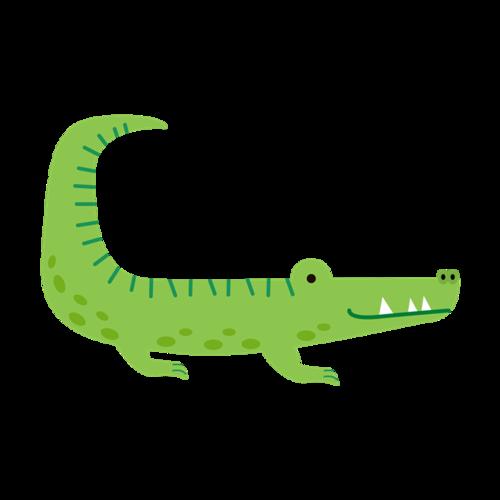 卡通手绘鳄鱼图片