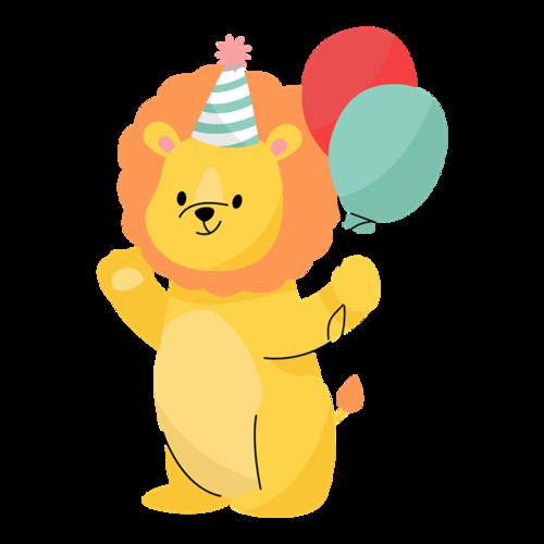 狮子过生日图片