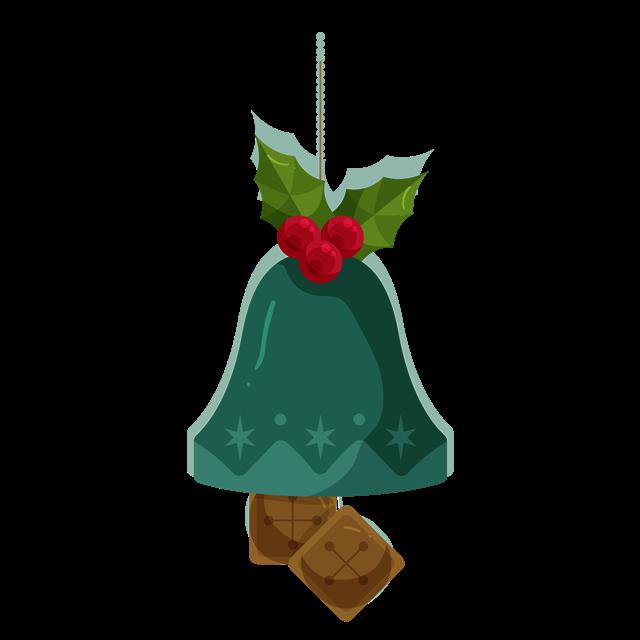 绿色圣诞节铃铛