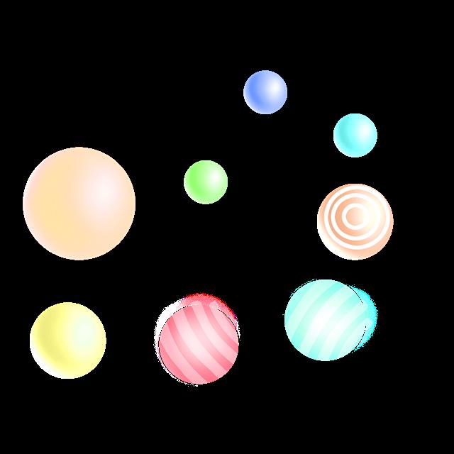 电商悬浮彩球元素