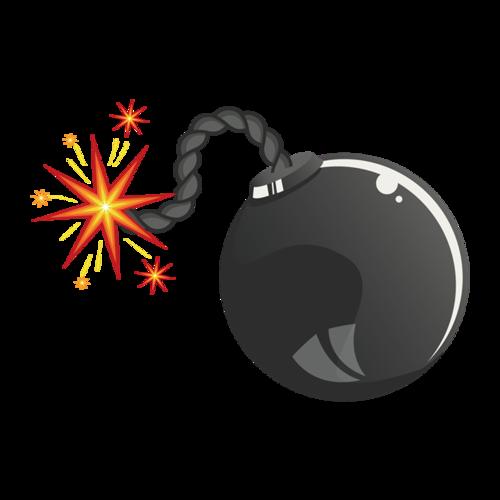 卡通炸弹图片