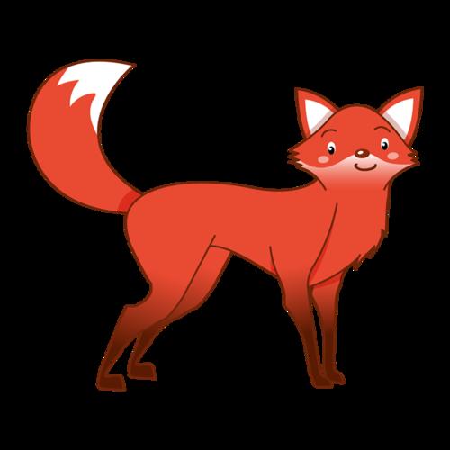 红色可爱狐狸