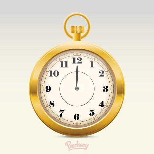 计时钟矢量图