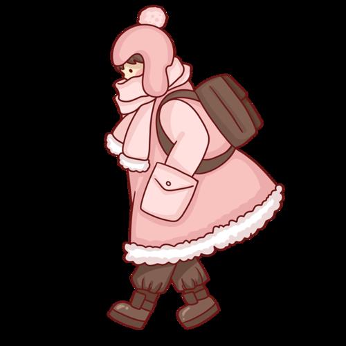 冬天旅行女孩