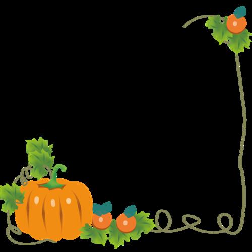 秋季南瓜藤边框