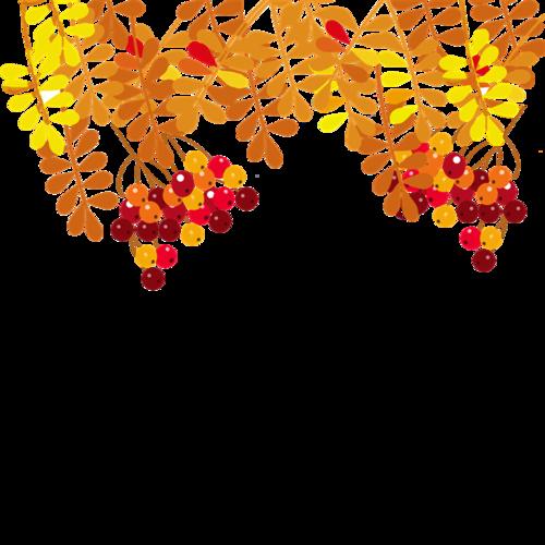 秋季树叶装饰