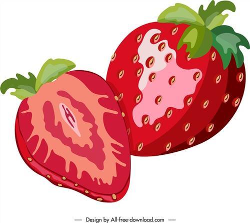 草莓矢量素材