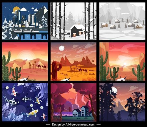 9幅创意自然景观插画