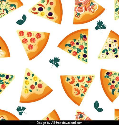 卡通披萨图案