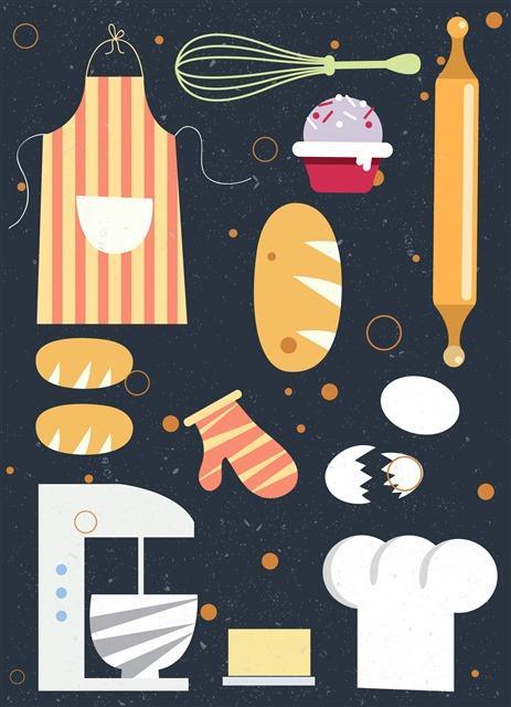 卡通厨具图片