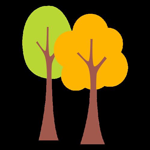 卡通树木简笔画