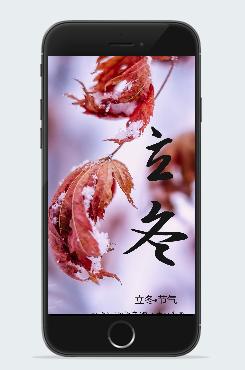 今日立冬宣传海报