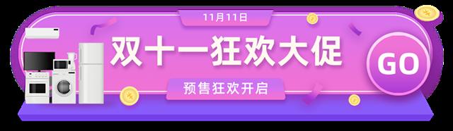 家具电器双11大促胶囊banner