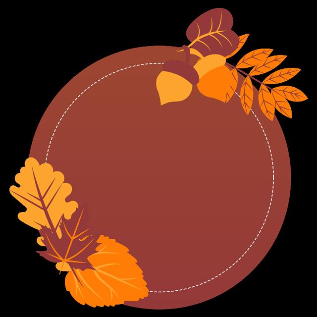 秋天橡子边框