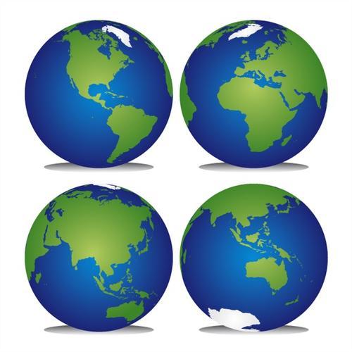 四款地球矢量图