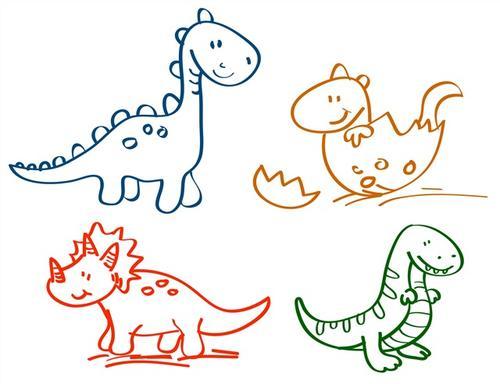 彩绘恐龙图片