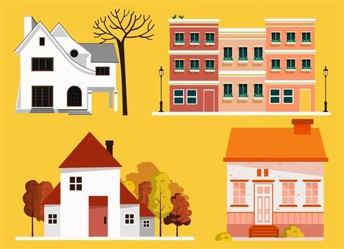 房子手绘插画
