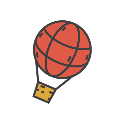 彩色热气球图片