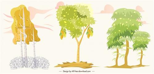自然树木插画
