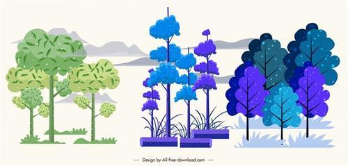 彩绘树木图片